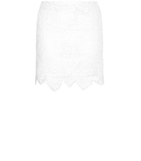 Love & Lies White Lace Skirt | New Look