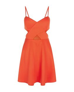 Love & Lies Red Cut Out Skater Dress | New Look