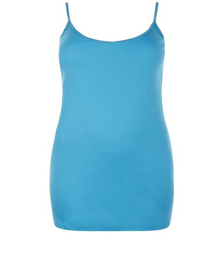 Curves Turquoise Vest | New Look