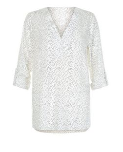 Cameo Rose White Polka Dot Shirt | New Look