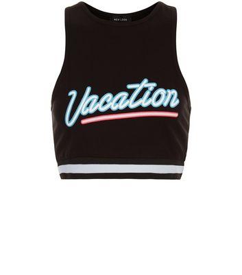 black-vacation-stripe-hem-crop-top