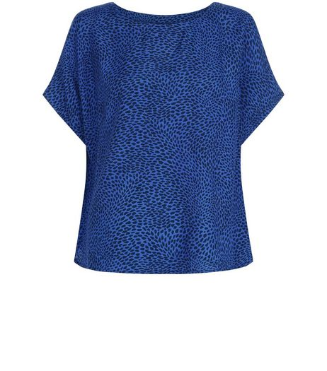 Apricot Blue Abstract Print Pleat Back Top | New Look