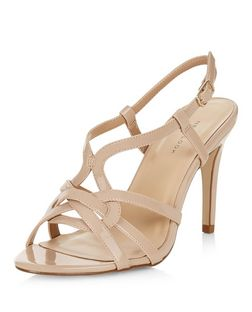 Cream Multi Strap Heeled Sandals  | New Look