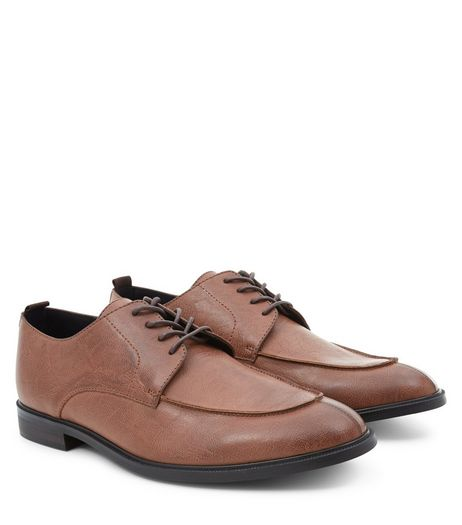Tan Stitch Trim Brogues | New Look