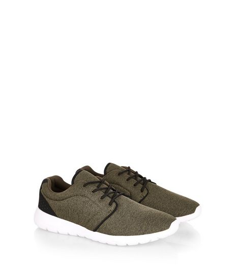 Khaki Lace Up Trainers | New Look