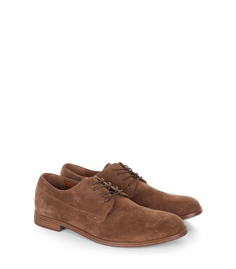 Brown Suedette Lace Up Brogues  | New Look