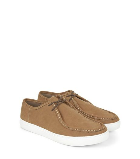 Tan Lace Up Moccasins | New Look