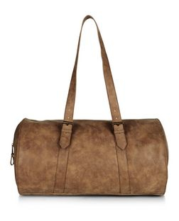 Tan Leather-Look Holdall Bag | New Look