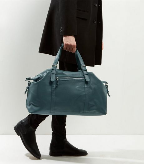 Green Leather-Look Holdall | New Look