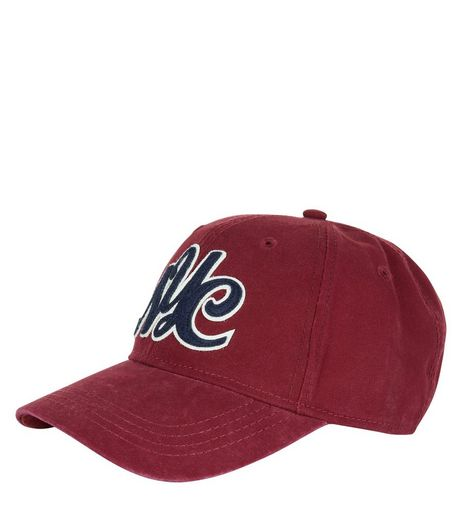 Red NYC Curved Peak Cap | New Look