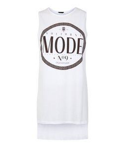 White Mode Longline Tank Top  | New Look