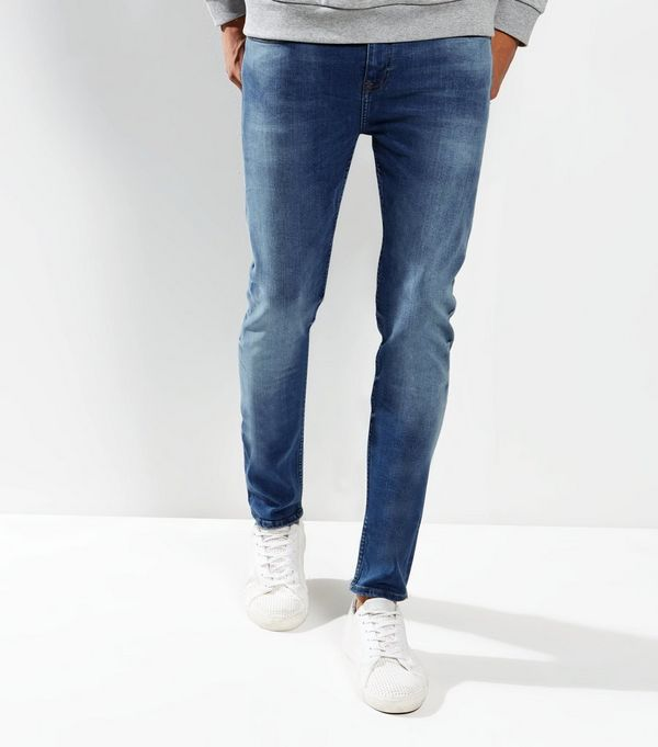 Mens Skinny Jeans | Blue & Black Skinny Denim | New Look