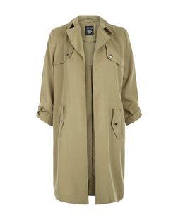 Teens Lyocell Roll Sleeve Trench Coat | New Look