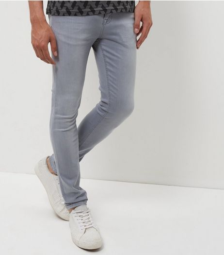 Pale Grey Super Skinny Jeans  | New Look
