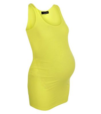 Maternity Lime Ribbed Vest