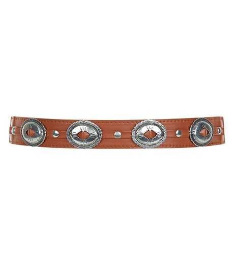 Tan Stretch Western Belt  | New Look