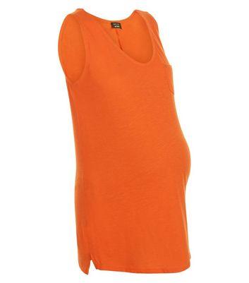 Maternity Orange Pocket Vest