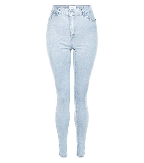 Tall 36in Grey Acid Wash Skinny Jeans | New Look