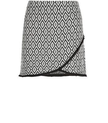 Gonna  donna Petite Black Tile Print Jacquard Skirt