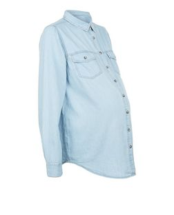 Maternity Double Pocket Denim Shirt | New Look