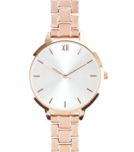 Rose Gold Sports Watch  | New Look