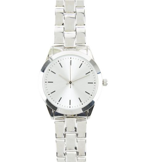 Silver Sports Watch | New Look