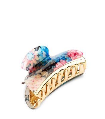 blue-floral-print-bulldog-clip