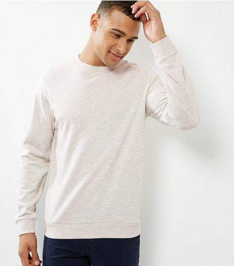 Cream Crew Neck Sweater | New Look