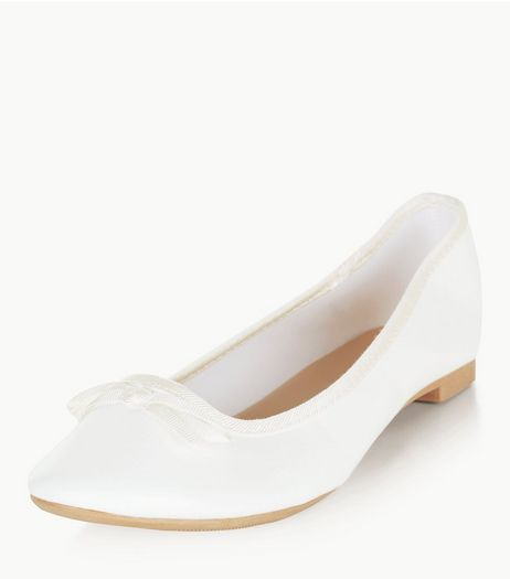 White Ballet Pumps  | New Look