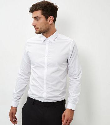 White Poplin Long Sleeve Shirt