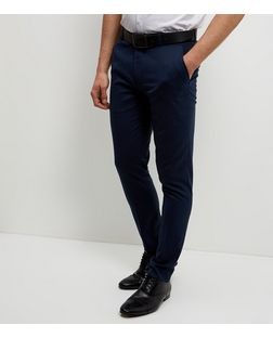 Blue Stretch Skinny Trousers  | New Look