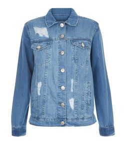 Parisian Blue Washed Denim Jacket | New Look