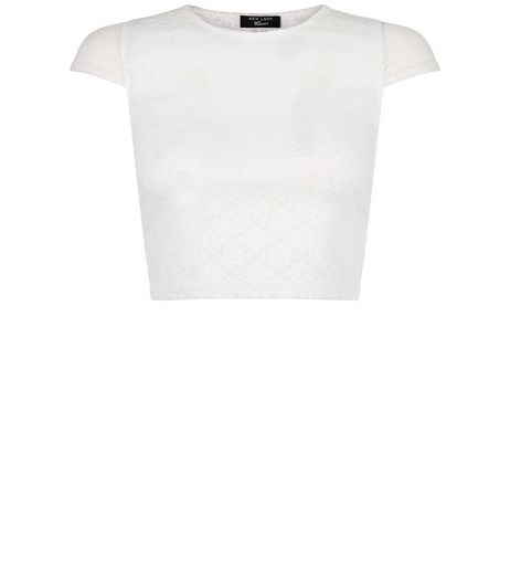 Girls White Lace Cap Sleeve T-Shirt | New Look