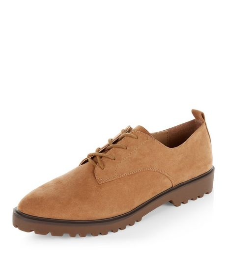 Tan Suedette Brogues | New Look