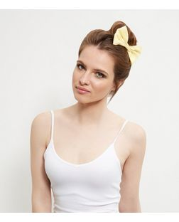 Yellow Bow Hair Clip | New Look