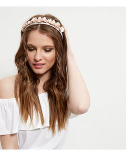 Pink Sequin Flower Headband | New Look