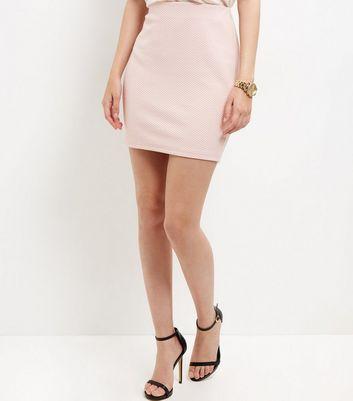 Gonna  donna Shell Pink Textured Mini Skirt