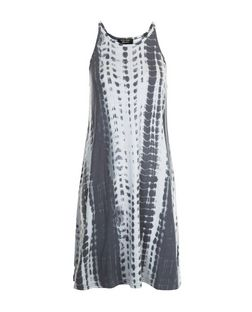 Teens Grey Tie Dye Print Swing Dress | New Look