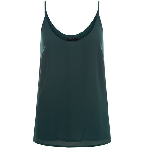 Dark Green Strappy Cami | New Look