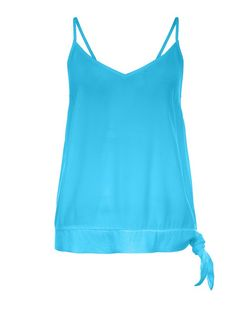 Blue Tie Side Strappy Cami  | New Look