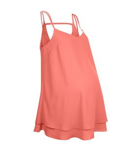 Maternity Bright Pink Bar Back Cami  | New Look