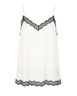 Cream Lace Trim Cami  | New Look