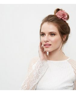 Pink Chiffon Floral Hair Band | New Look