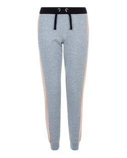 Grey Contrast Panel Joggers | New Look