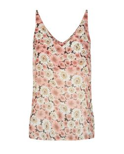 Cameo Rose Floral Print V Neck Cami  | New Look