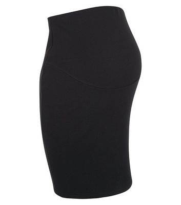 Product photo of Maternity black over bump pencil skirt