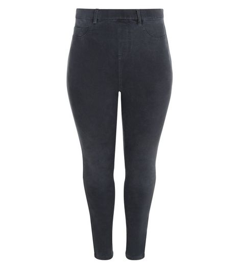 Curves Grey High Waisted Jeggings | New Look