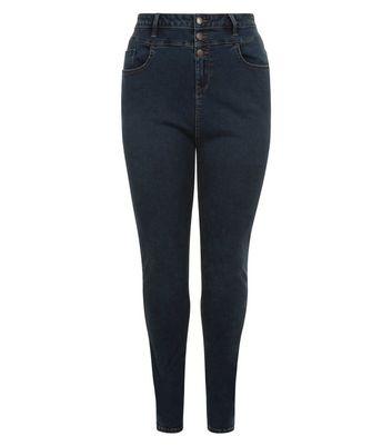 Curves Blue High Waist Skinny Jeans