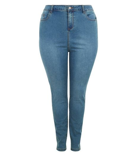 Curves Blue Skinny Jeans | New Look