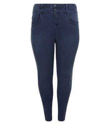 Curves Dark Blue Skinny Jeans